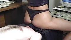 Black thong facesitting