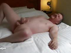 sexy stud jerks off