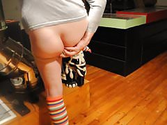 transvestite crossdresser schoolgirl fisting anal toy168 1