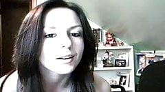 amateur strips on webcam