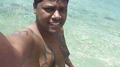 Filipino Nudist Couple .. naked in Boayan Island, PHL