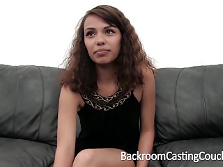Preview 1 of Cute Teen Anal Creampie on Casting Couch