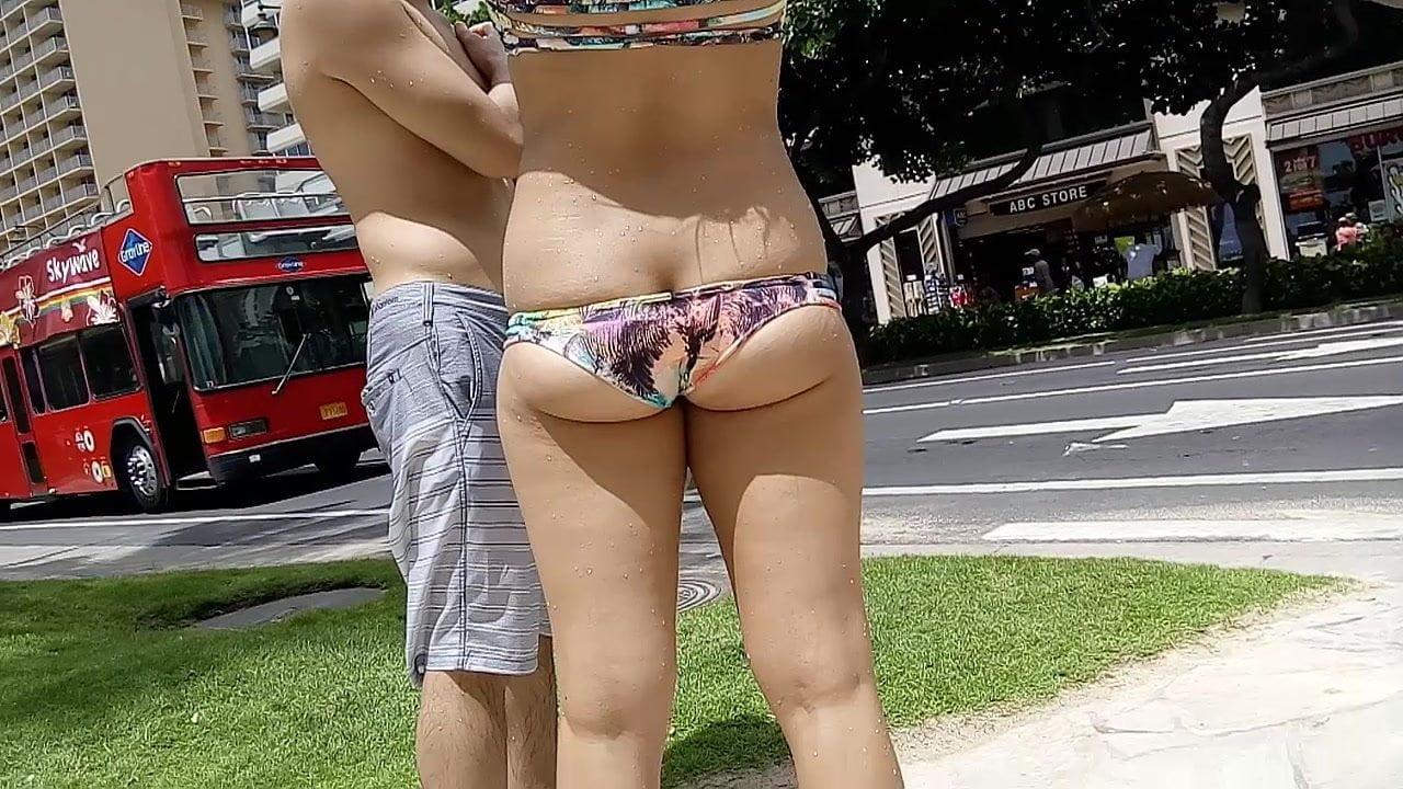 Candid Bikini 03 - Bikini too small