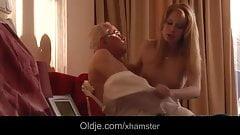 Blonde porn Amber Daikiri fucking grandpa