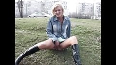eastern european whores fuck and piss in public, part IX