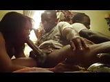 hot ebony girl sucks down big dick with ease