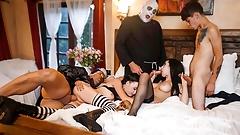 FamilyStrokes - Creepy Family Fucks Hardcore In A Hot Hallow