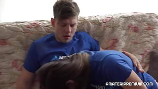 CZECH AMATEURS COUPLE FUCKED ON CAMERA