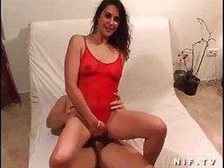 Sexy tanned french brunette gets her ass nailed