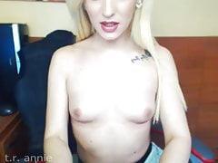T.R.Annie show her little titties.....!