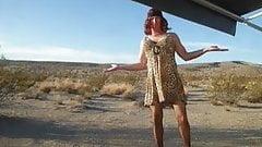 Crossdresser jimma's  new leopard print dress
