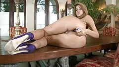 Isis Taylor toys her anus