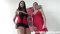 Cum on the glass table and lick it all up CEI