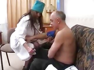STP3 His Visiting Nurse Raises Old Guys Pressure !