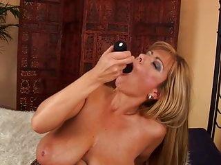 Blonde Big Tits Euro Milf Wanks With Fake Big Black Cock