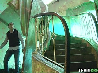 Latina Linda Nieves fucked and facialized in an old abandone