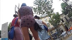 Upskirt - Very short dress