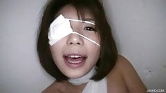 Big titty Azumi Harusaki is banged up like a mummy and her f