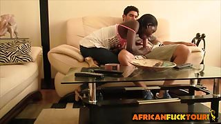 Interracial homemade sex tape with cock hungry ebony babe