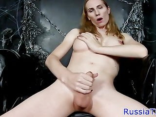 Preview 3 of Busty russian shemale toying her tight ass