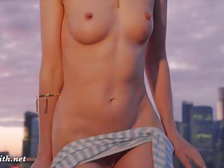 Preview 6 of Jeny Smith public nudity on a roof top