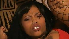 Horny black girls in fishnets