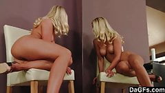 Sultry Blonde Beauty Bringing Herself To Orgasm