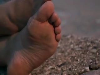 Candid Sandy Beach Feet Soles