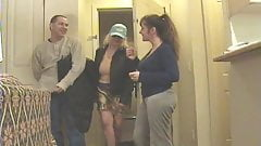 Mature Zoe Zane and busty girlfriend tease the pizza guy.