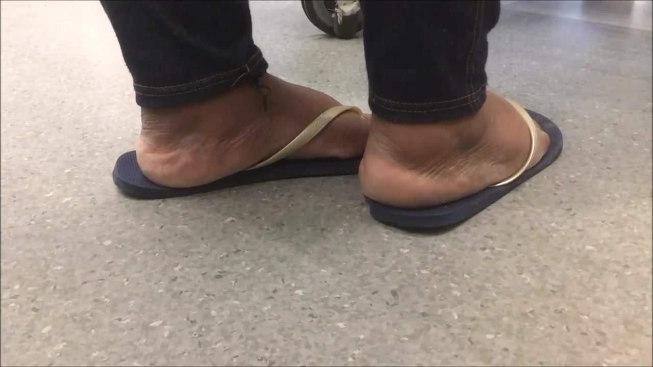 Candid mature jamaican woman feet