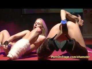 public lesbian porn on stage