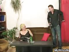 Guy gets dirty with his mother-in-law