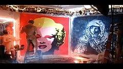 Brent Ray Fraser Penis Paints Warhol's Marilyn Monroe