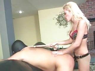 Hot Blonde strapon 1 on 1