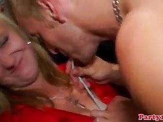 Real euro amateur sluts get tit licked