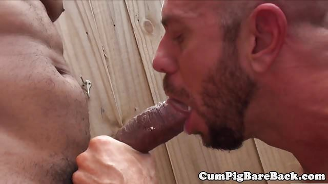 Preview 1 of Outdoor interracial bareback therapy for white hunk