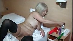 Check my MILF amateur granny in black stockings on sex
