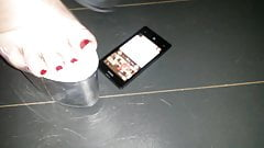 Lady L crush  mobile phone NOKIA with extreme high heels.