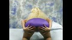 Big boobs blonde masturbate with long red nails 02