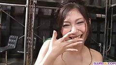 Maki Takei sucks cock dry then swal - More at Slurpjp.com