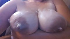BBW titty play big tits big nipples in shower