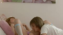 Young small Tits Shy redhead sweetie fucked by nice boy