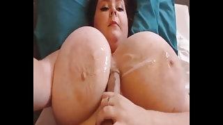 Massive Tits Cum Covered