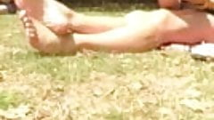 Candid Sexy Feet Legs Soles at London Park
