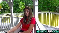 Nasty brunette girl Sabrina Pa