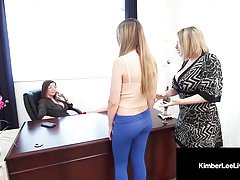 Horny Student Kimber Lee Punished By Principal Jay & Teacher