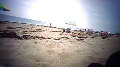 3 Topless Teens at Florida Beach - 02
