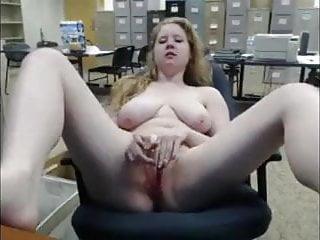 Naked at the office - Masturbating naked at the office