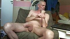 Naked Man stroking his Cock