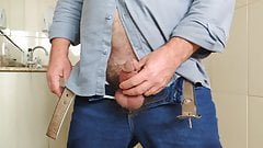 Daddy Gold Foultain Peeing and Cumming